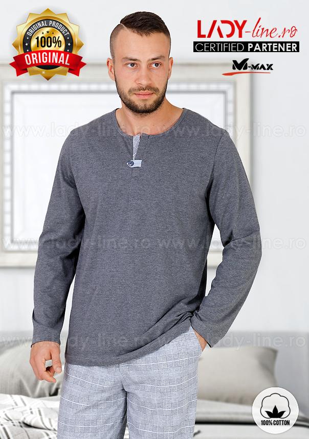 Pijamale Barbati, Bumbac 100%, 'Northern Pride', M-Max