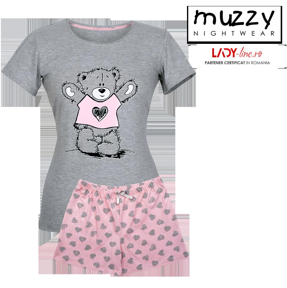 Pijama Dama Muzzy, 'Cute Teddy Bear'