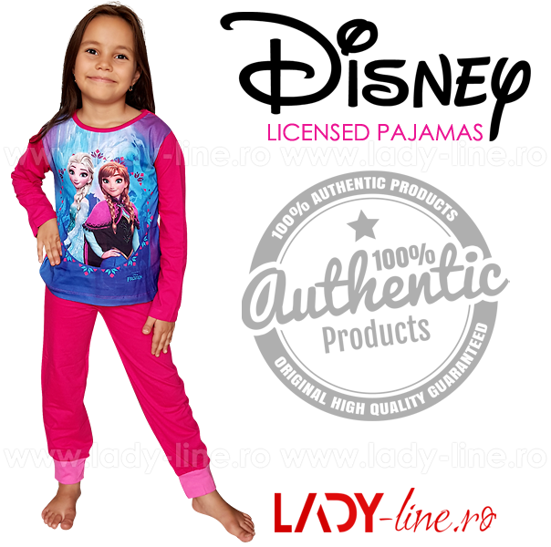 Pijamale Copii 'Anna & Elsa', Brand Disney Frozen
