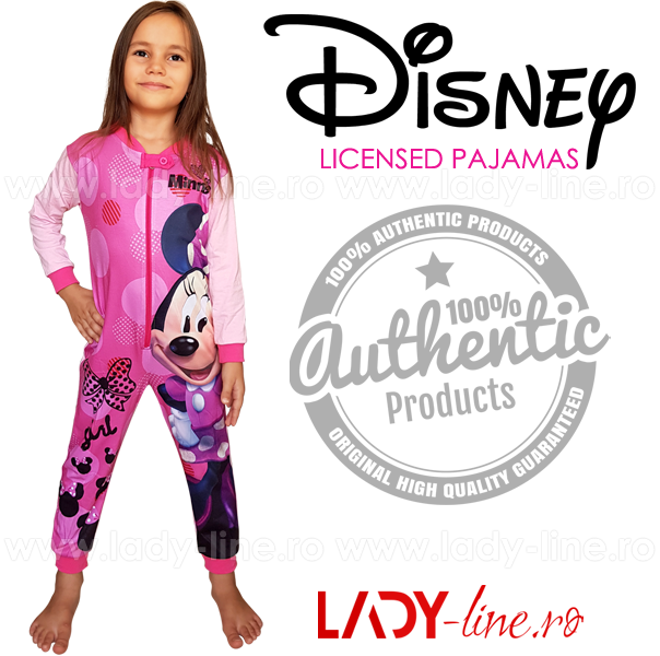 Salopeta Copii 'Minnie Girl', Bumbac 100%, Brand Disney