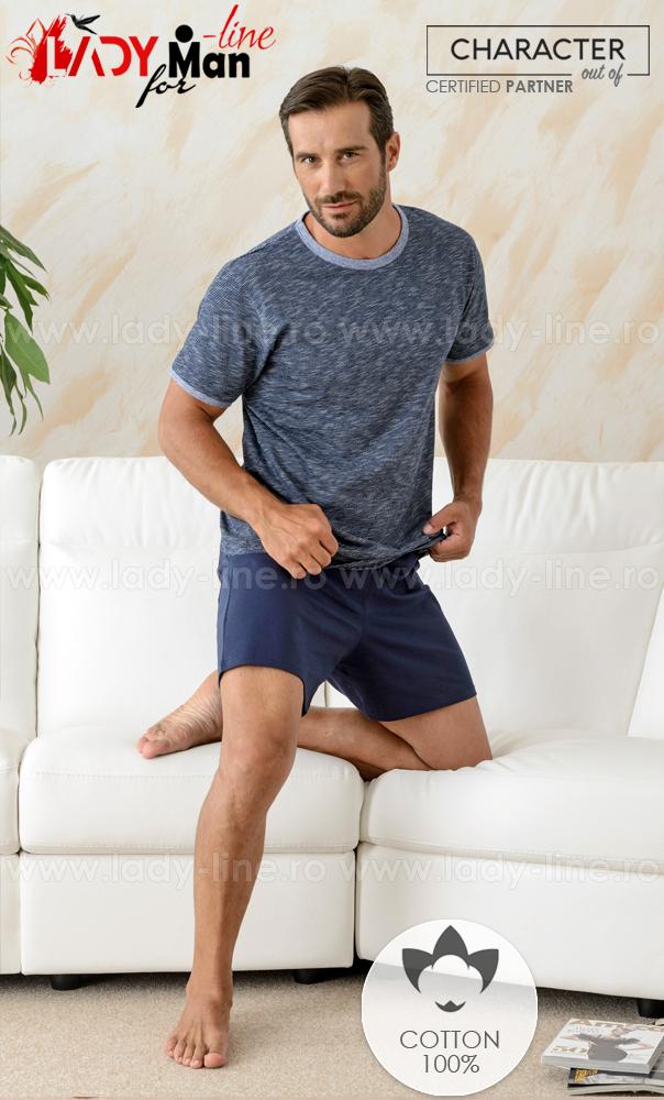 Pijamale barbati din bumbac 100%, brand 'CHARACHTER Out Of' calitate superioara.