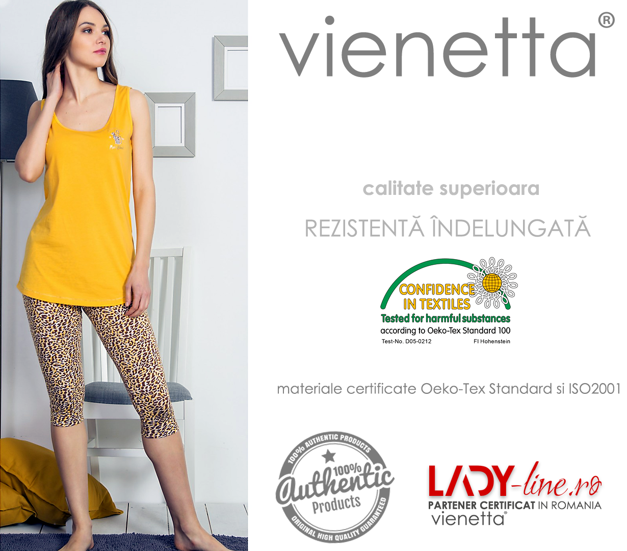 Pijamale Vienetta Dama, 'Leopard is the New Black'