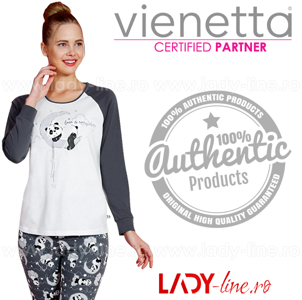 Pijama Dama Vienetta, Bumbac 100%, 'Love is Everywhere'