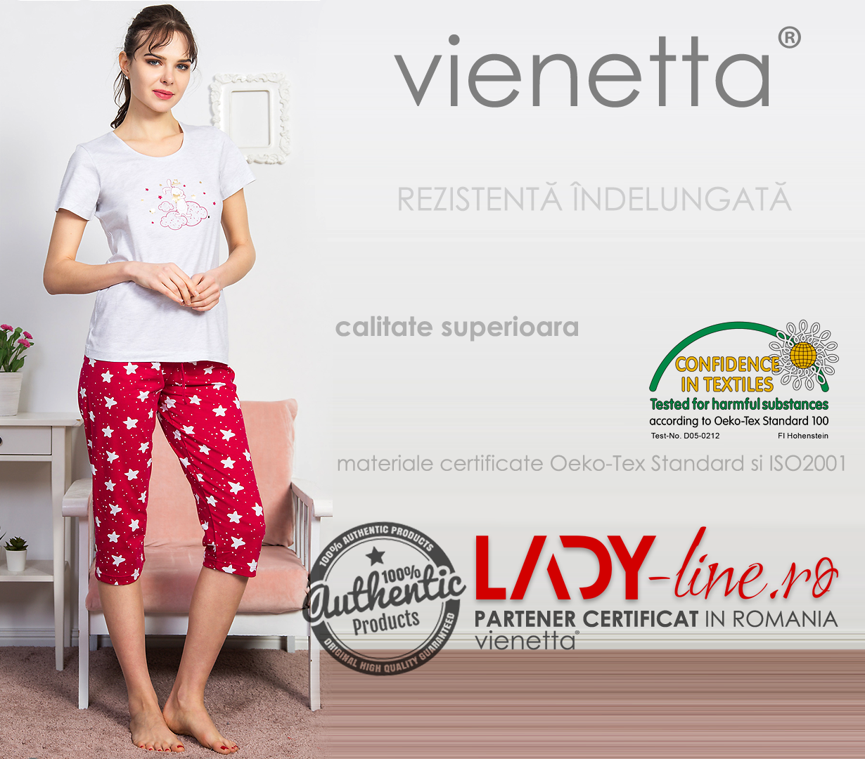 Pijama Dama Vienetta, 'Dreamer My Love' Red