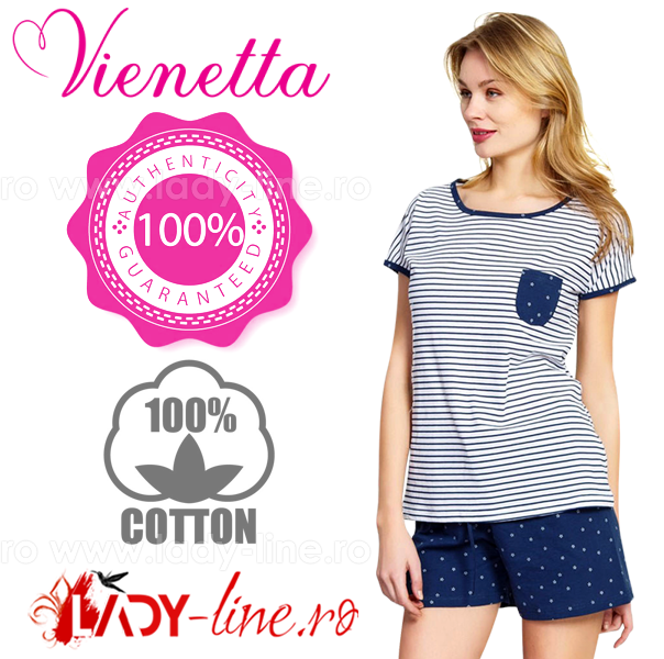 Pijamale Vienetta Secret, Bumbac 100%