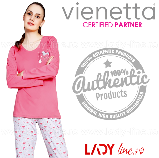 Pijamale Vienetta Secret, Bumbac 100%, 'Softly Sleep'