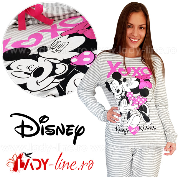 Pijamale Dama Cu Mickey si Minnie Mouse