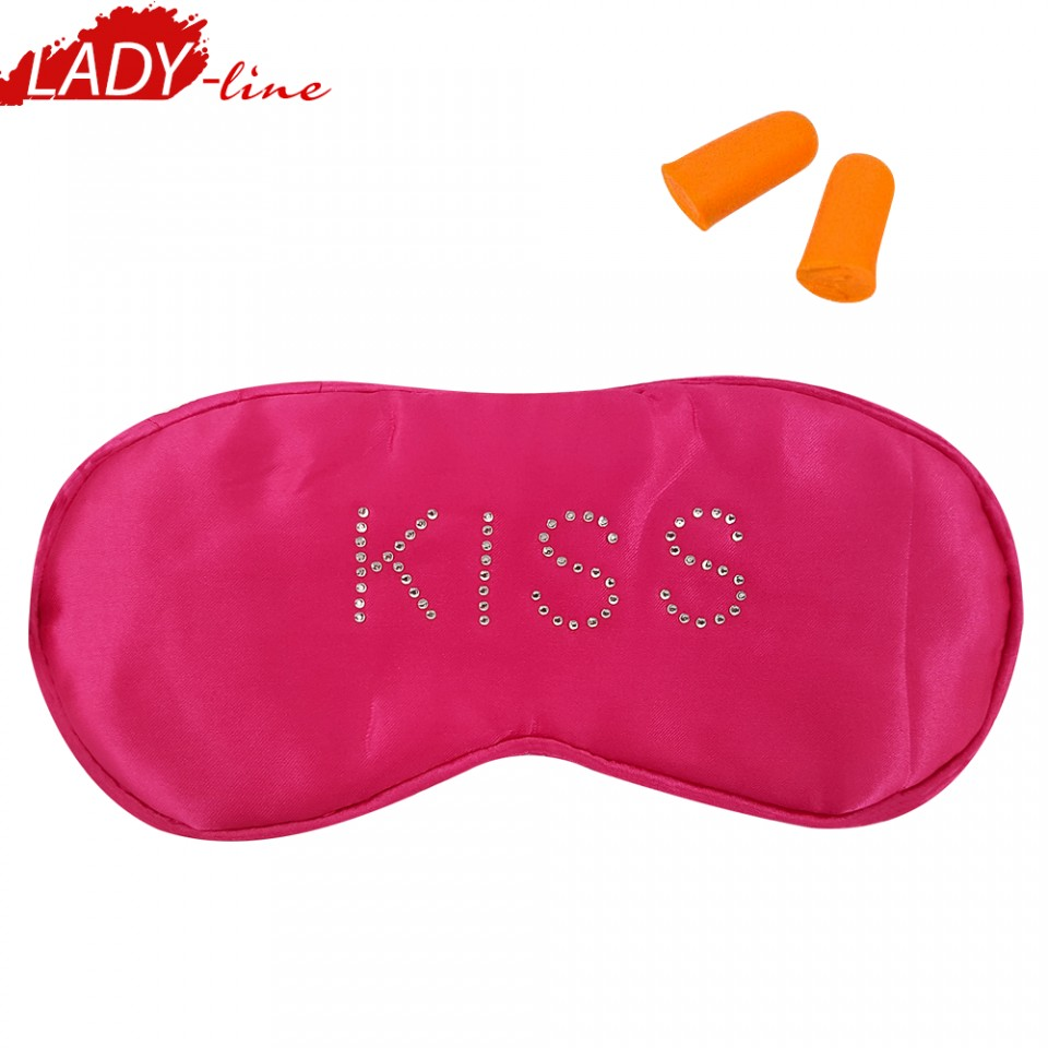 cel mai bun preț cel mai bun serviciu outlet online Ochelari de Dormit 'KISS' + Set Dopuri, Culoare Roz cu Buline