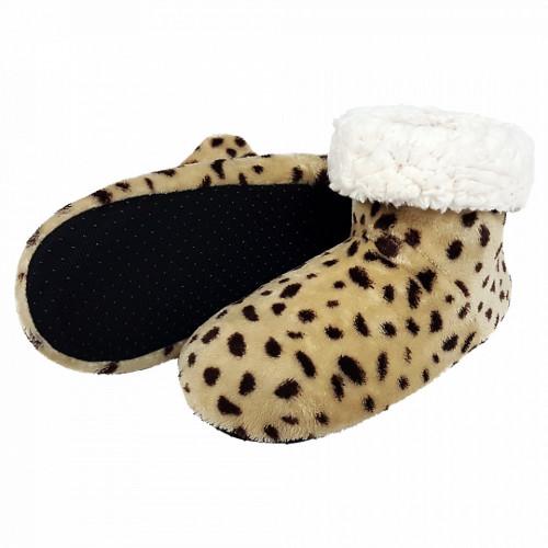 Papuci de Casa tip Cizmulite Animal Print, 'Ghepard'