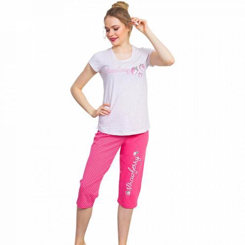 Pijama Dama Bumbac 100% Vienetta 'Think Pink'