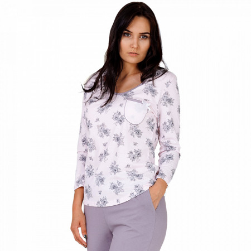 Pijama Dama Bumbac M-Max, Model La Vie En Rose