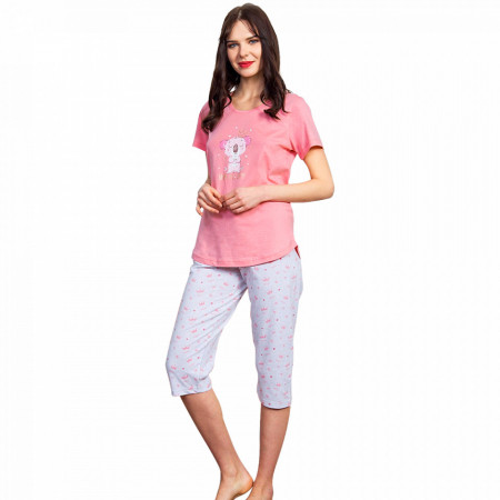 Pijama Dama Vienetta, Bumbac 100%, 'Shine All Day!'