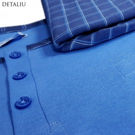 Poze Pijamale Barbati, Bumbac Natural, Contro Senso, 'Owner Of Bed' Blue