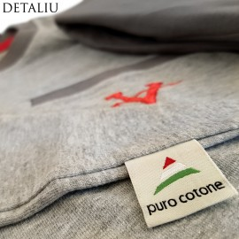 Poze Pijamale Barbati, Material Bumbac 100%, Culoare Gri, Model 'Gray The Great Victory', Brand Contro Senso, Pijamale Barbatesti Import Italia