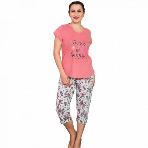 Pijamale Dama Marimi Mari, Vienetta, 'Always be Happy' Pink