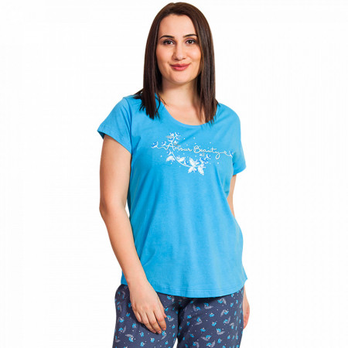 Pijamale Dama Marimi Mari, Vienetta, 'Amour Beauty' Blue