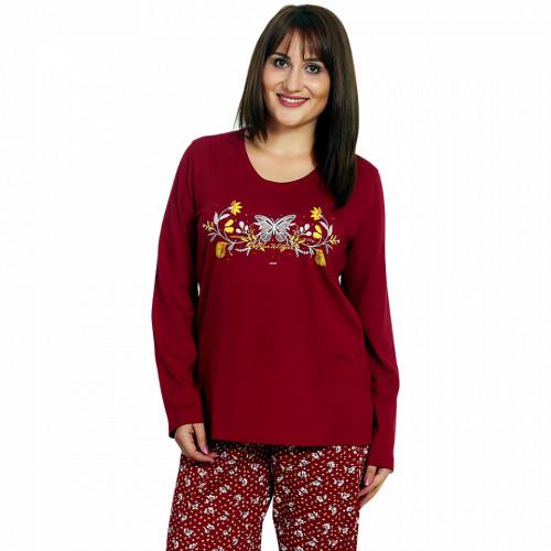 Pijamale Dama Marimi Mari Vienetta, 'Beautiful' Burgundy