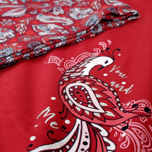 Pijamale Dama Marimi Mari Vienetta, 'You and Me' Red