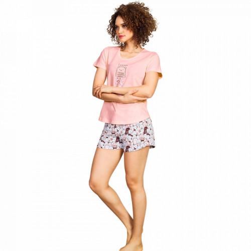 Pijamale Dama Vienetta, 'Dream Big Little One' Culoare Roz