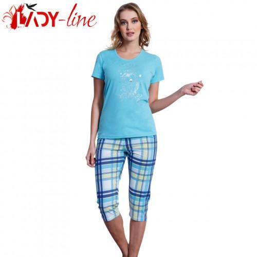 Pijamale Vienetta Secret, Bumbac 100%, 'Good Morning' Blue