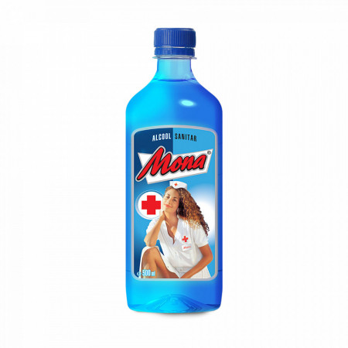 Alcool Sanitar Mona Concentratie 70% Avizat de Ministerul Sanatatii 500ml