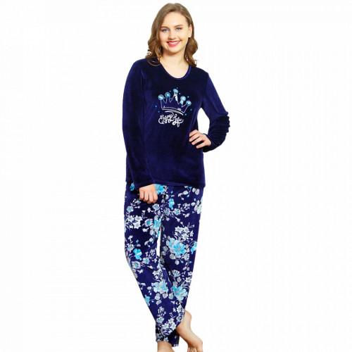 Compleu Dama din Velur, Vienetta, 'Enjoy Life' Blue