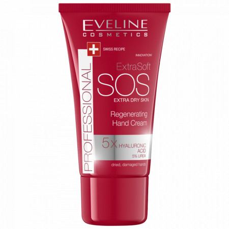 Crema Maini SOS cu 5x Acid Hialuronic si 5% Uree Eveline Cosmetics 100ml