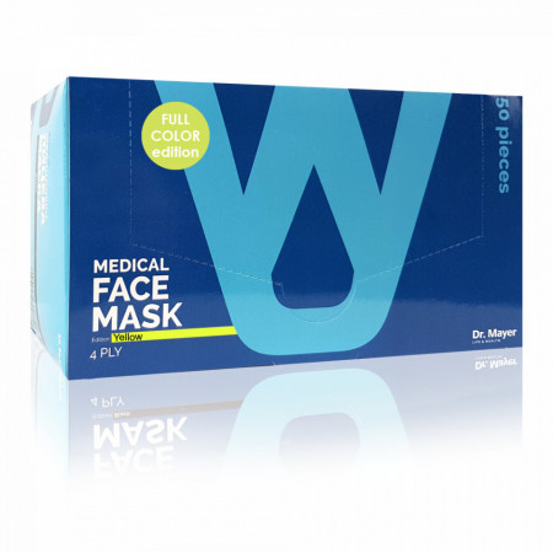 Masca Faciala Medicala cu 4 Straturi Dr. Mayer Yellow Full Color Edition Cutie 50 Bucati