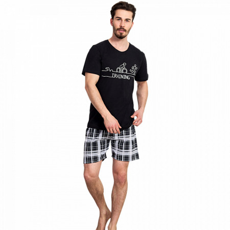 Pijama Barbati Gazzaz by Vienetta, 'Training' Black