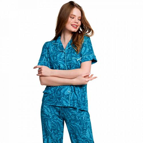Pijama Dama cu Nasturi Vienetta Classic, Model 'Classic is Always in Trend'