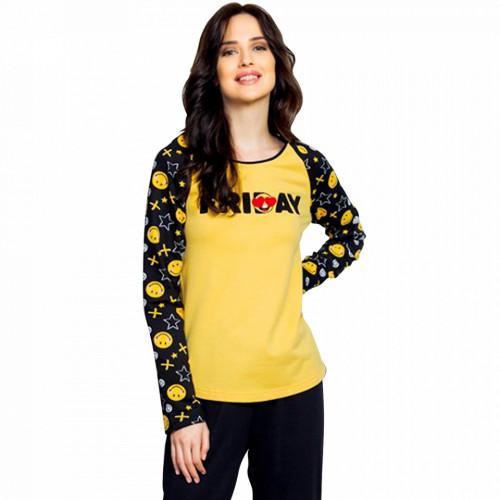 Pijama Dama din Bumbac Vatuita la Interior Vienetta Model 'Friday I'm In Love'