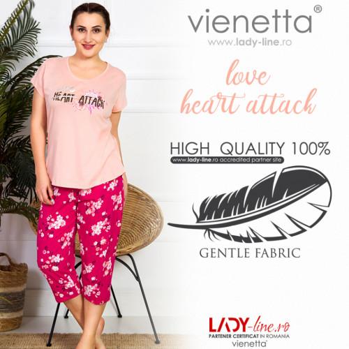 Pijama Dama Marimi Mari, Vienetta, 'Love Heart Attack' Pink