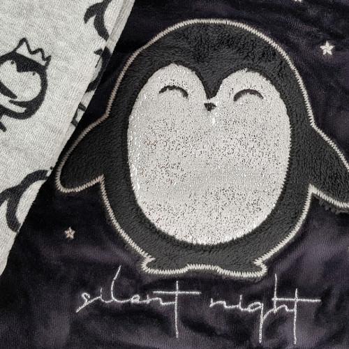 Pijama Dama Soft Velur, Vienetta, 'Silent Night' Black