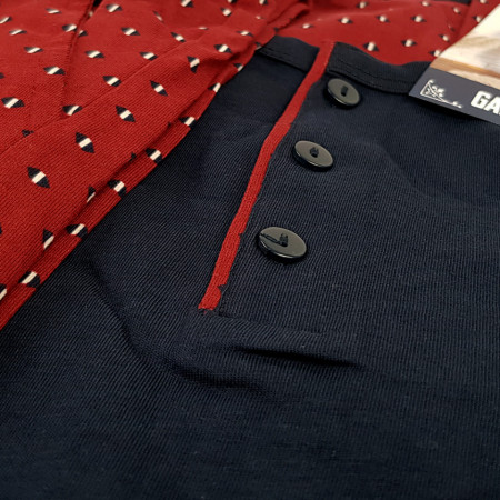 Pijamale Barbati Bumbac 100% Gazzaz by Vienetta 'New in Town'