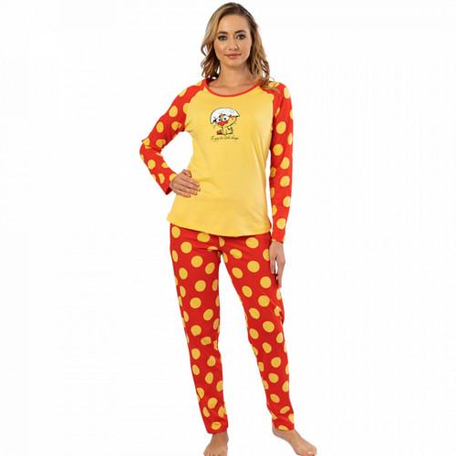 Pijamale Confortabile DamaVienetta Model 'Enjoy the Little Things' Yellow