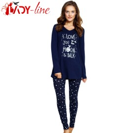 Poze Pijamale Dama Bumbac 100%, 'I Love You To The Moon & Back', Vienetta