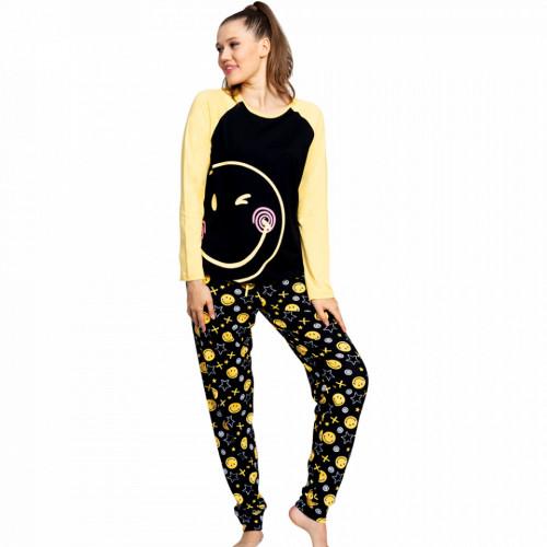 Pijamale Dama din Bumbac 100% Model 'Smiley Face'