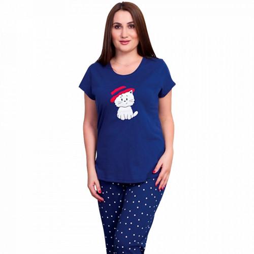 Pijamale Dama Marimi Mari din Bumbac, Vienetta Model 'Fancy Trancy'