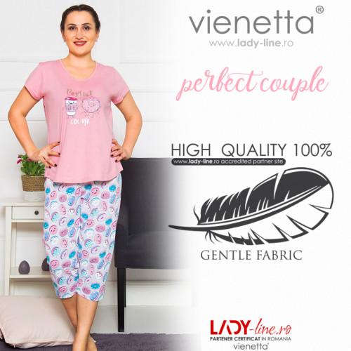 Pijamale Dama Marimi Mari, Vienetta, 'Perfect Couple' Pink