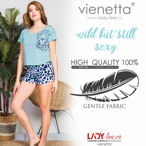 Pijamale Dama Vienetta, 'Wild but Still Sexy' Culoare Verde