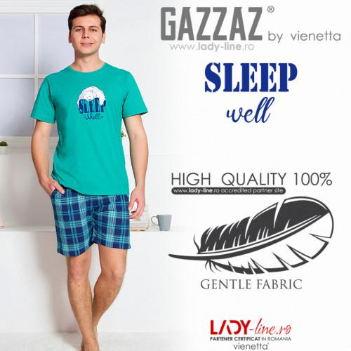 Pijamle Barbati Gazzaz by Vienetta, 'Sleep Weel' Green