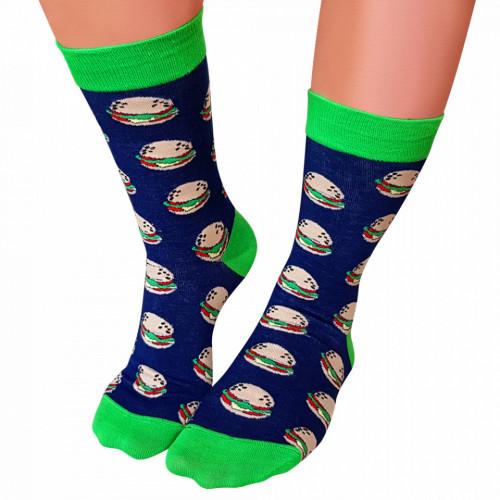 Sosete Clasice Colorate Unisex Cosas Boutique Socks Model Burger Best Friends