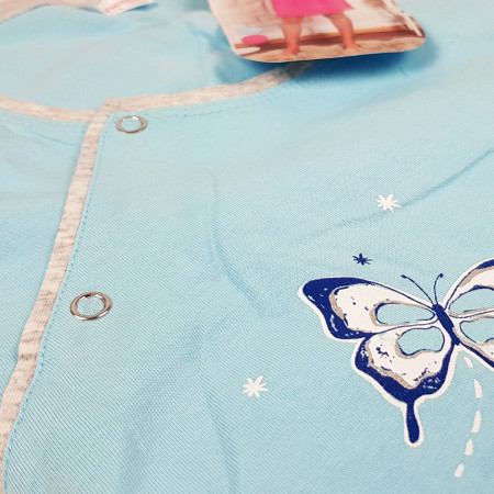 Camasa pentru Gravide si Alaptat Vienetta 'Happy Like a Butterfly' Blue
