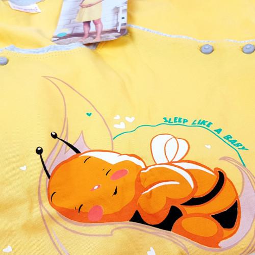 Camasa pentru Gravide si Alaptat Vienetta 'Sleep Like a Baby' Yellow