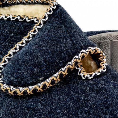 Ghete din Lana pentru Interior si Exterior Culoare ALbastru, Model 'Bucovina Style'