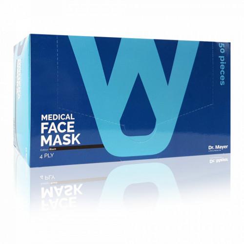 Masca Faciala Medicala cu 4 Straturi Dr. Mayer Black Edition, Cutie 50 Bucati