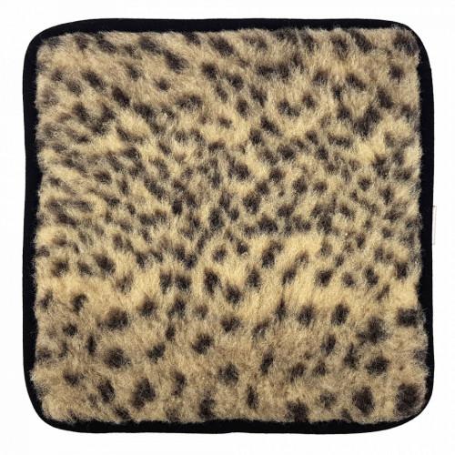 Perina de Scaun din Lana Naturala de Oaie Model 'Animal Print Ghepard', 1 Bucata