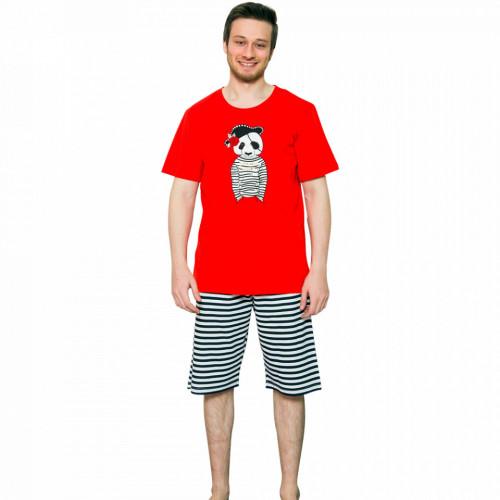Pijama Barbati Gazzaz by Vienetta, 'Let's be Pirates' Red