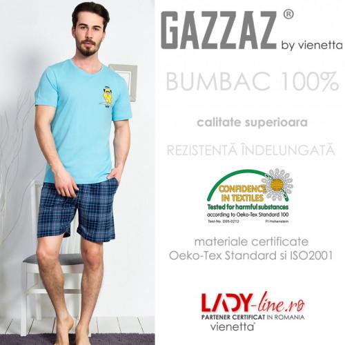 Pijama Barbati Gazzaz by Vienetta, 'Yoga Therapy'