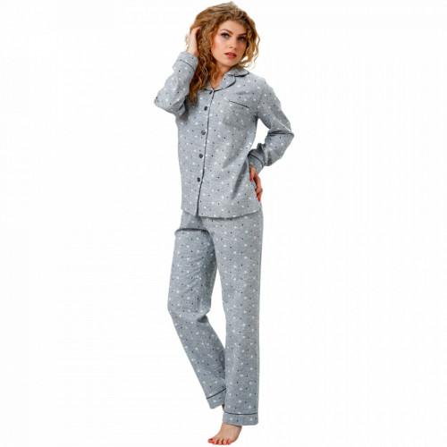 Pijama cu Nasturi Dama M-Max, Bumbac 100%, 'Lost Stars'